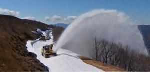 Vosges : déneigement de la route des Crêtes